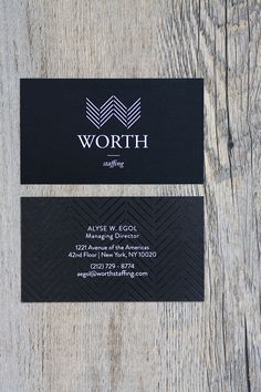 Worth Staffing Brand Identity Business Card Design Accounting Financial Industry