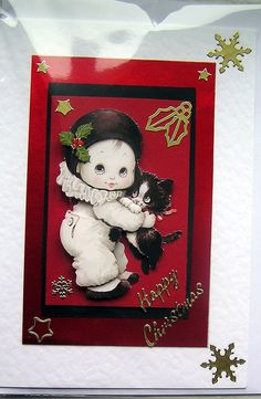 Happy Christmas HandCrafted 3D Decoupage Card  by SunnyCrystals, £1.75