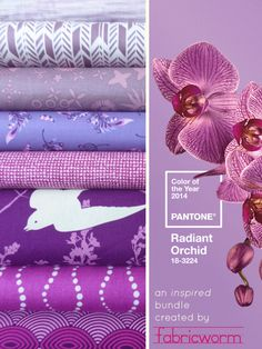 This is the perfect colour to add to my daughters room! Fabricworm Giveaway! Pantone's Color of the Year Orchid, In A Fabricworm Bundle!