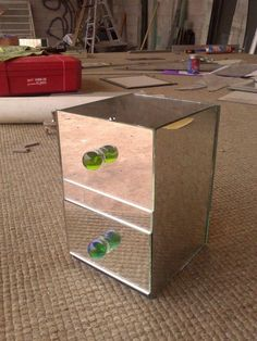 Cajita para aretes o lo que se te ocurra hecha de espejo  Made with mirror