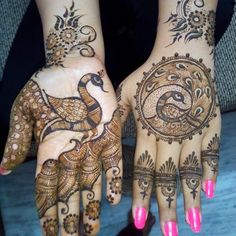 Here are the top 15 most beautiful peacock mehndi designs for you to choose from and try easily at home. Hope you will love these amazing mehndi designs. Mehandi Designs, Peacock Mehndi Designs, Unique Mehndi Designs, Mehndi Patterns, Wedding Mehndi Designs, Mehndi Designs For Hands, Henna Tattoo Designs, Peacock Design, Tattoo Ideas