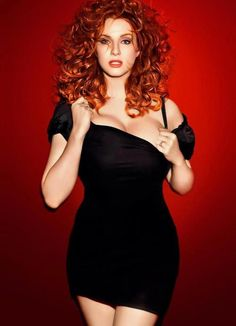 Love the curly red hair! More hair ideas