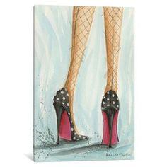 iCanvas 'Date Night: Polka Dot Heels - Bella Pilar' Giclee Print Canvas Art Polka Dot Heels, Polka Dots, Dot Painting, Painting Prints, Paintings, Textured Painting, Painting Canvas, Illustration Mode, Shoe Art