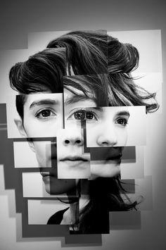 French artist Brno Del Zou has created portrait photo-sculpture series.