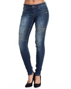 Find Paint Splatter Panel Skinny Jean Women's Bottoms from Fashion Lab & more at DrJays. on Drjays.com