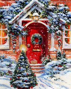 Christmas Scenery, Christmas Past, Cozy Christmas, Christmas Pictures, Christmas Themes, Christmas Decorations, Holiday Decor, Christmas Printables, Christmas Cookies