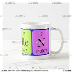 Yoshi periodic table name mug periodic table lauren periodic table name mug urtaz Choice Image
