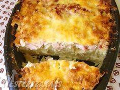 Rakott karfiol ínyenc módra recept My Recipes, Favorite Recipes, Cauliflower Pizza, Hungarian Recipes, Lasagna, Quiche, Macaroni And Cheese, Casserole, Bacon