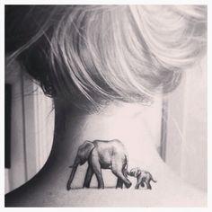 Image de tattoo and elephant