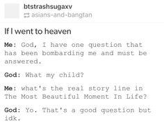 Kpop meme 'Even God doen't know...'