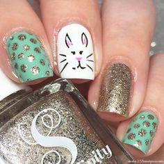 Easter nails using all Serendipity Nail Polish!