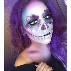 purple crystal sugar skull