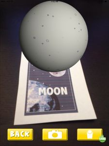 """Augmented Reality Space Flashcards: Fun With The Solar System! Scan the card with the app and the planets """"pop up"""""""