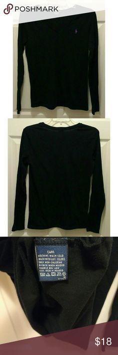Ralph Lauren Sport soft long sleeve black tee Ralph Lauren Sport soft long sleeve black tee, size medium Ralph Lauren Tops Tees - Long Sleeve