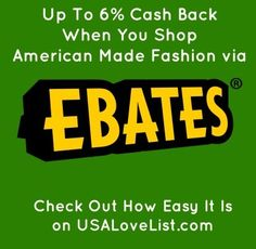 Cash Back on Made in USA Fashion Finds
