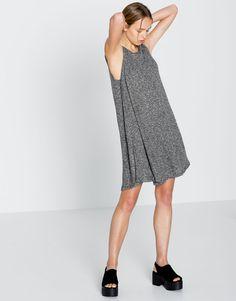 RIBBED A-LINE DRESS - DRESSES - WOMAN - PULL&BEAR United Kingdom