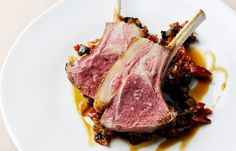 grilled rack of lamb with ratatouille by Pascal Aussignac.