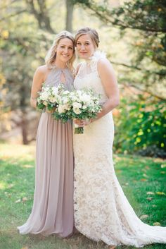 The bride and her maid of honor: http://www.stylemepretty.com/2015/03/20/intimate-tent-wedding-at-welkinweir-estate/ | Photography: Rachel Pearlman - http://www.rachelpearlmanphotography.com/