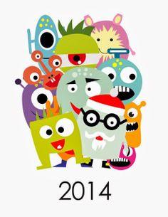 O Tapete Vermelho da Imagem: Images' Red Carpet: Um calendário de 2014 monstruoso / 2014 printable monster calendar
