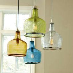 Luminária - garrafão colorido