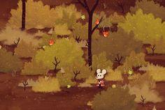 @Dom2D: Style test for our semi-secret, untitled exploration game! ^_^ #Screenshotsaturday Look, little birdies!