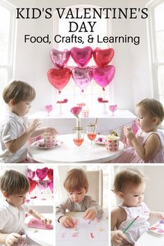 Kid's Valentine's Party with Snacks, Crafts, and Learning Printables for Toddlers and Preschool