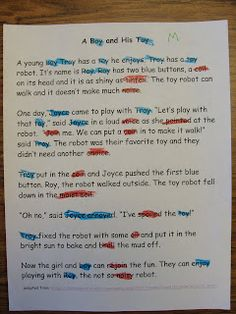 Print out short stories and have child highlight diphthongs, blends, etc. you are working on.