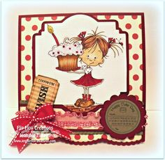 Avery Celebrates with cake, Sassy cheryl digital image Scrapbook Cards, Scrapbooking Ideas, Color Crafts, Digi Stamps, Copic Markers, Cool Cards, Kids Cards, Cardmaking, Birthday Cards