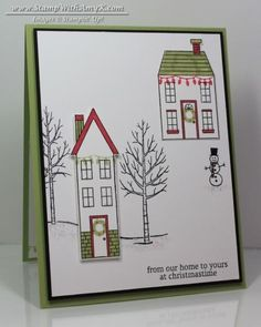 Non-traditional Holiday Home Christmas Card by amyk3868 - Cards and Paper Crafts at Splitcoaststampers