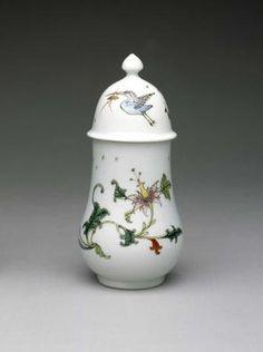 Dry Mustard Pot c. 1758  Soft-paste porcelain