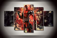 Own this amazing Deadpool Marvel Comics Superhero wall canvas today we will ship the canvas for free. This is the perfect centerpiece for your home. It is easy to assemble and hang the panels together which makes this a great gift for your loved ones.  This painting is printed not handpainted and is ready to hang! We have 2 options for this canvas -- Size 1: (20x35cmx2pcs, 20x45cmx2pcs, 20x55cmx1pc) Size 2: (30x50cmx2pcs, 30x70cmx2pcs, 30x80cmx1pc) Limited quantities left…