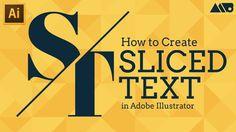 Adobe Video tutorial: How to Create Sliced Text in Adobe Illustrator Tutorial => http://tutorials411.com/2017/03/02/create-sliced-text-adobe-illustrator-tutorial/ #photoshop #adobe #tutorial
