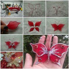 DIY Beautiful Nylon Butterfly 3