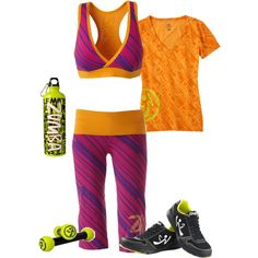 Ready to Zumba!, created by #rebecca-fry on #polyvore. #fashion #style #top tennis shoes