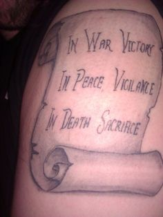 You must reeeally like Dragon Age to tattoo the Grey Warden motto on your arm. O_o