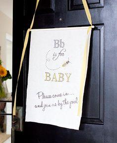 3 Baby Shower Tutorials- banner, favor, onesie