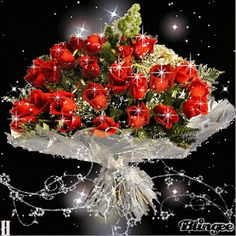 Animated Gif by Massimo_De_Santics Beautiful Red Roses, Beautiful Bouquet Of Flowers, Types Of Flowers, Love Flowers, Happy B Day, Happy Mothers Day, Gif Animé, Animated Gif, Photo Frame Design