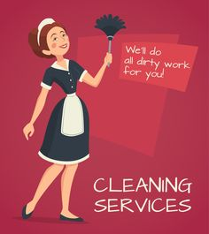Buy Cleaning Advertisement Illustration by macrovector on GraphicRiver. Cleaning service advertisement with cleaning woman in classic maid dress cartoon vector illustration. Editable EPS an. Creative Flyer Design, Creative Flyers, Free Menu Templates, Residential Cleaning Services, Professional House Cleaning, Walking People, People Illustration, Illustration Vector, Maid Dress