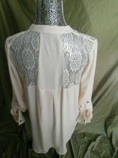 Back of ivory blouse