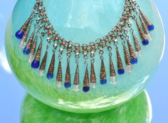 Egyptian Revival   1960's Vintage Bib Necklace  by FabsAndFaves, $65.00