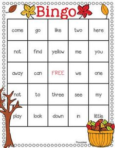 Sight Word Bingo Grades 1-2 | A well, Dolch sight words and Game of