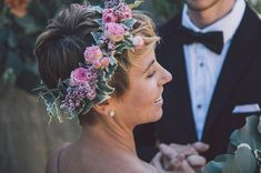 Or accessories, for that matter! | 31 Brides Who Absolutely Rocked Short Hair On Their Wedding Day