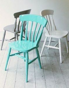 Painted chairs - aqua colour for love heart chair?