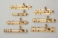 #Poonam - #Architectural #Brass #HardwareFittings  - Brass #TowerBolts. Also, available in SS & Antique finish.  - Wide range of door accessories.  - Available as #NeckTowerBolt #CentralLockTowerBolt #FancyTowerBolt & so on.  For further details, WALKIN to our #DisplayCentre - L'Atelier #MultiBrandShowroom in #Kormangala 5th Block OR Call us at +91 81231 13218 for more information.