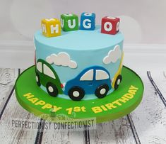 Cars First Birthday Cake - Birthday Cake Easy Ideen Baby Birthday Cakes, Birthday Cakes For Women, 1st Boy Birthday, Car Cakes For Boys, Birthday Cake Decorating, Occasion Cakes, Girl Cakes, Celebration Cakes, Themed Cakes