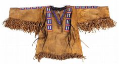 Lakota : Lakota Sioux Beaded War Shirt Circa 1950's #362