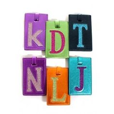 Assorted Kitson Initial Luggage Tags  Personalize your luggage in a stylishly chic way