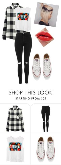 """""""Clothing for Instagram"""" by kijannakap on Polyvore featuring Uniqlo, Topshop, Converse, women's clothing, women, female, woman, misses and juniors"""