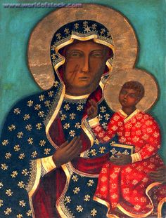 the black madonna painting of poland - Google Search