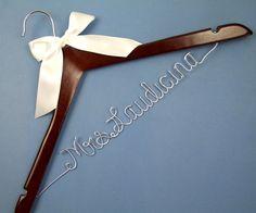 Single Line Wire Name Hanger Custom Wedding Hanger by haomaihanger, $6.99